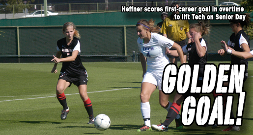 Heffner scores overtime goal, lifts Golden Eagles on Senior Day