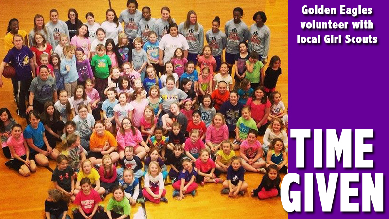 Tennessee Tech helps with Girl Scout Basketball Clinic for Putnam County