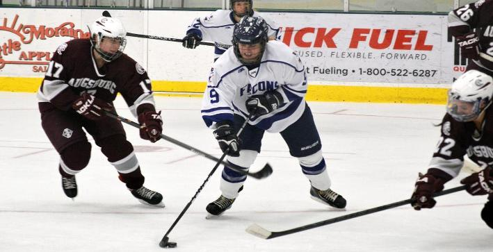 Heckendorf scores twice, Women's Hockey downs Augsburg in home-opener