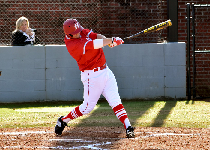 Hunter Long was 1-for-3 and scored a run in Sunday's loss to fourth-ranked Emory University. (Photo by Wesley Lyle)