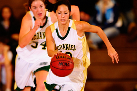 McDaniel pops Dickinson for 79-56 win, keeps pace in playoff race