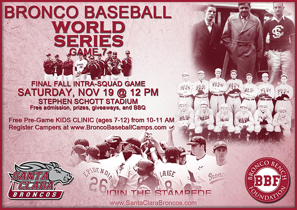 Game 7 of Bronco Baseball Fall World Series Set For Nov. 19