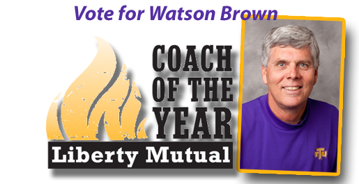 Watson Brown needs your vote for the Liberty Mutual Coach of the Year poll