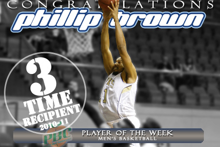 Brown named Peach Belt POTW for third time