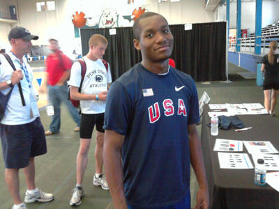 Track Standout Aaron Radden Competes at USATF Junior Champsionships