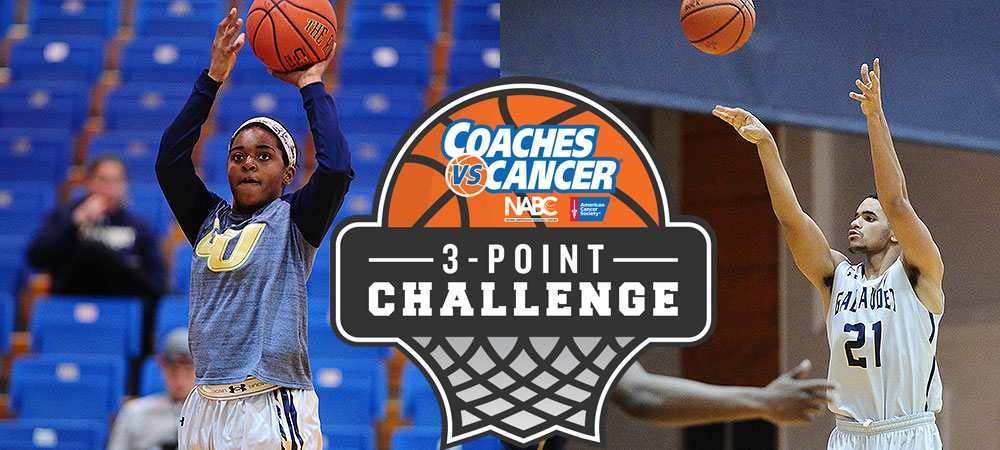 Gallaudet University basketball participates in Coaches vs. Cancer 3-Point Challenge