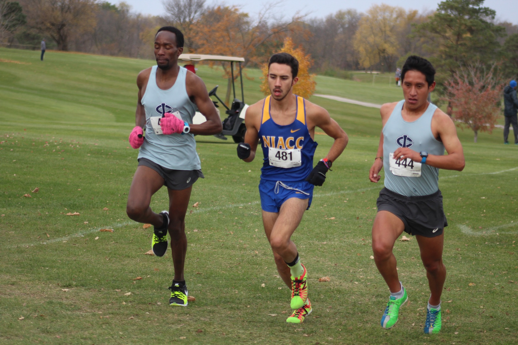 NIACC's Brian Jacques runs to a third-place finish at Sunday's regional meet in Fort Dodge.