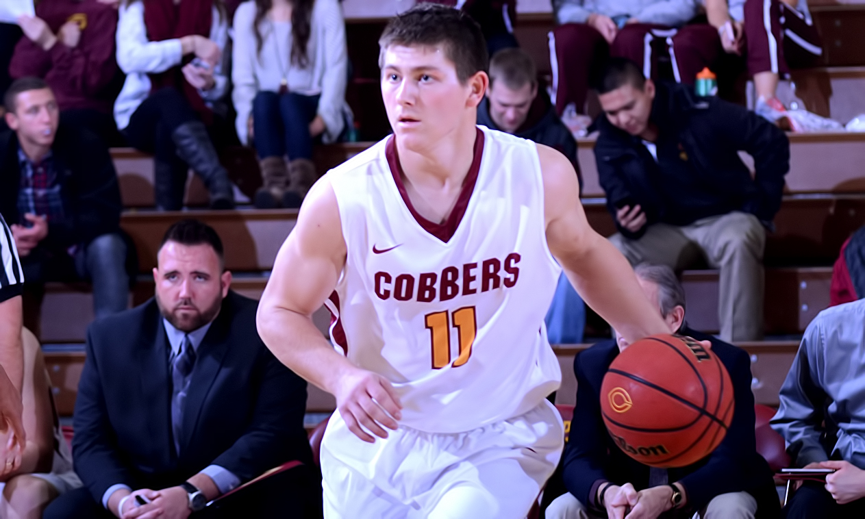 Junior point guard Dylan Alderman had a career-high 10 assists in the Cobbers' win at Crown. It was the first time since 2002 that a Cobber player has had more than nine assists in a game.