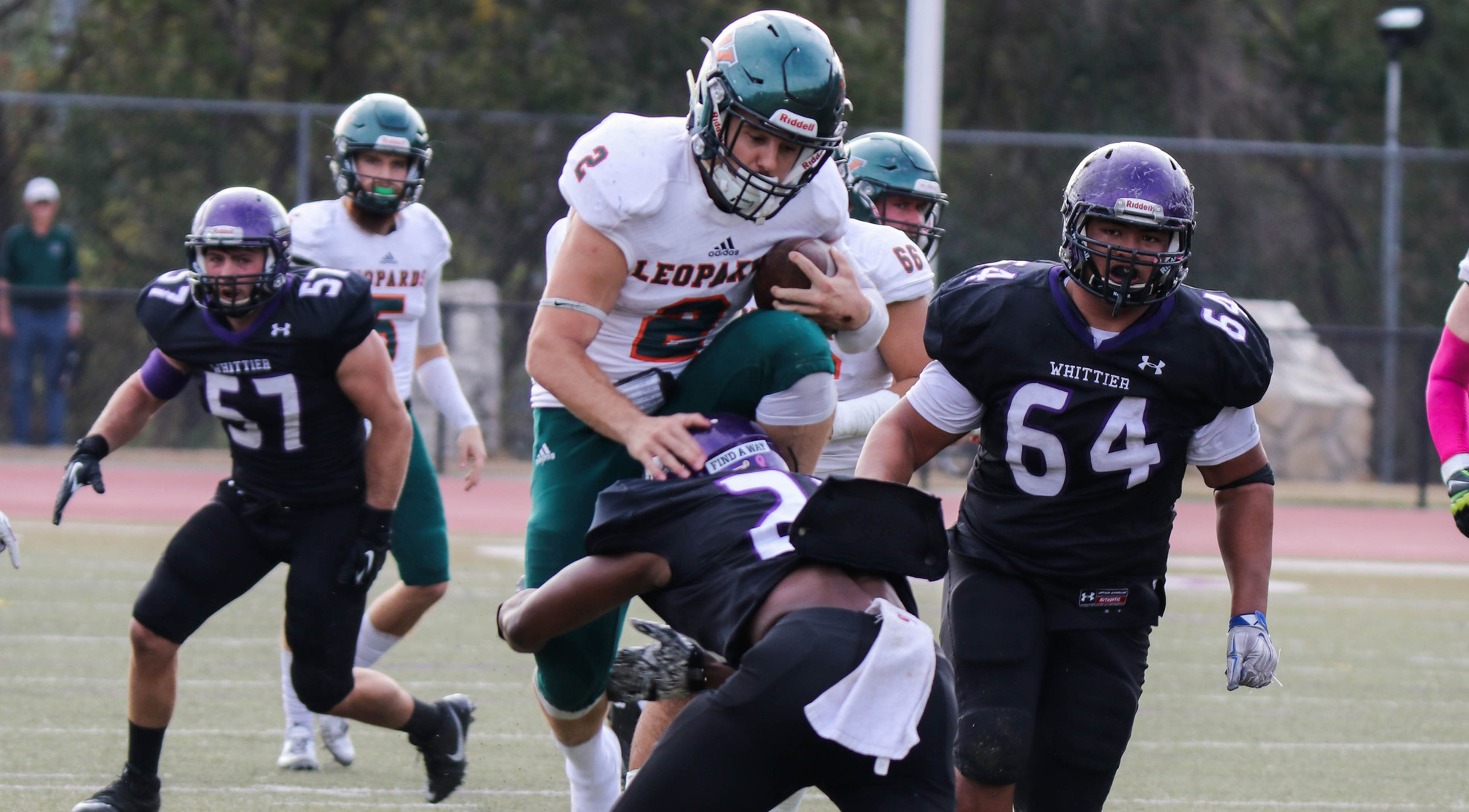 Football routs Whittier, 41-14, in finale