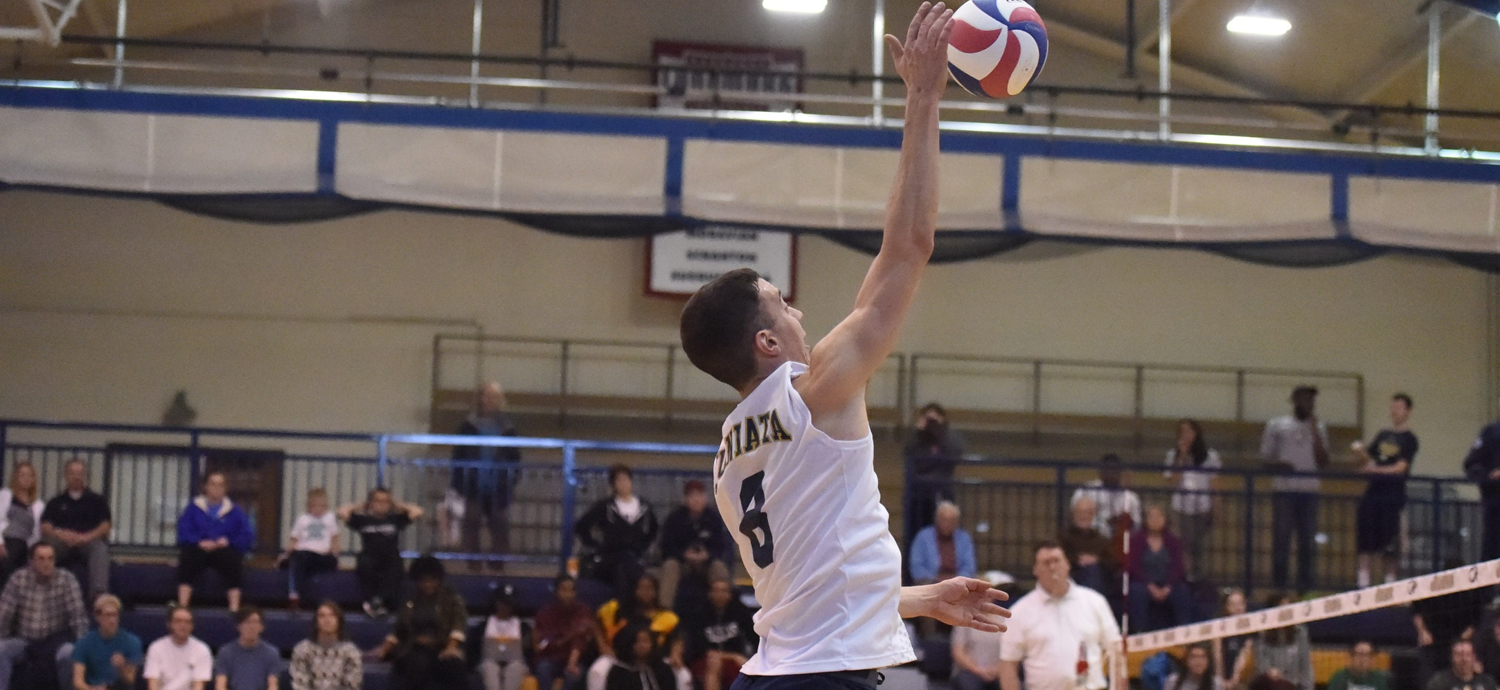 Matt Vasinko tied for a team-high 10 kills including the final kill of the match.