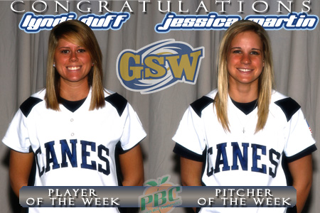 Duff and Martin earn PBC softball honors