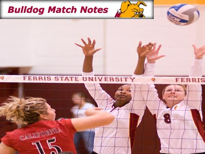 Ferris State Women's Volleyball Weekly Notes (Matches 18-19)
