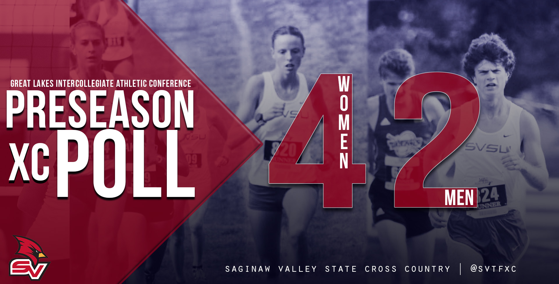 SVSU Men Picked 2nd; Women 4th in GLIAC Cross Country Preseason Poll