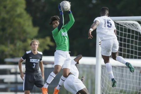 New York men's soccer team puts forth valiant effort, but drops 2-1 decision to Centenary University in Hackettstown, NJ