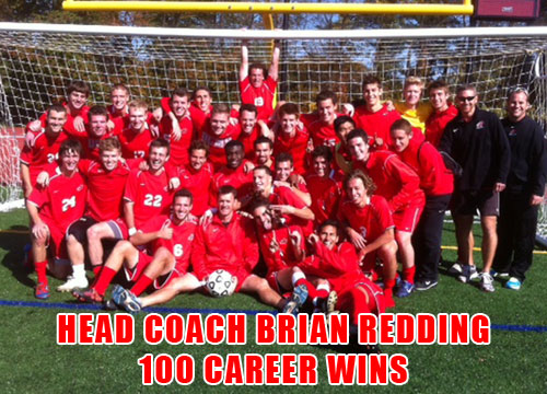 Head coach Brian Redding enjoyed his 100th career win on Saturday as the Red Devils topped Ursinus, 3-1.