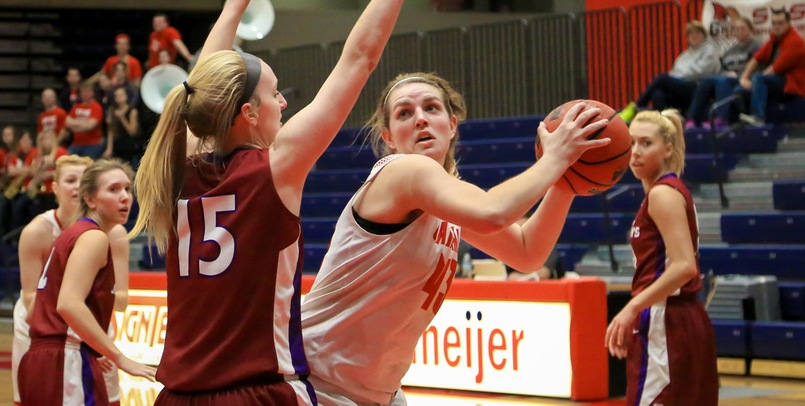 Emily Wendling had a team-high 14 points in the final game of her career in a Cardinal uniform...