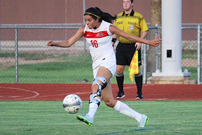 Jenny Montelongo scored two goals for the T-Birds in their rout of Gateway Tuesday night