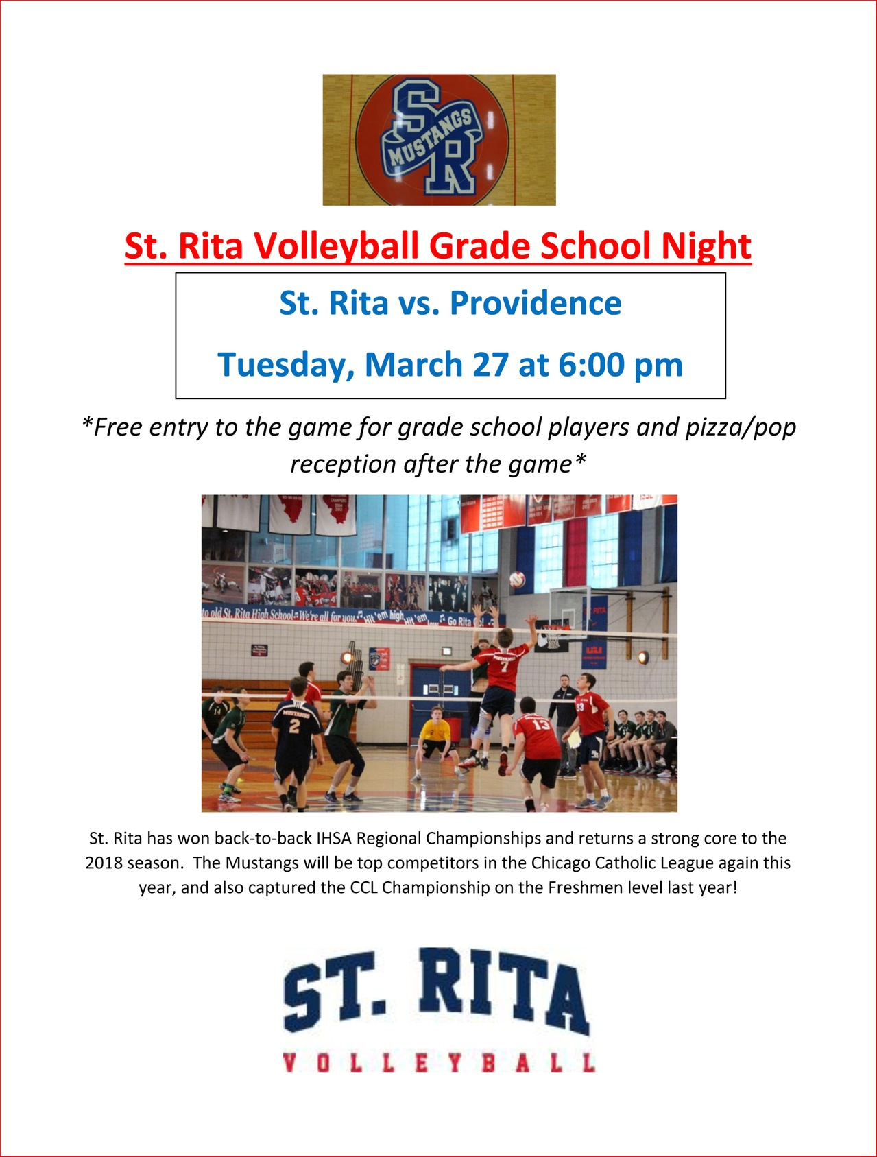 St. Rita Volleyball Grade School Night