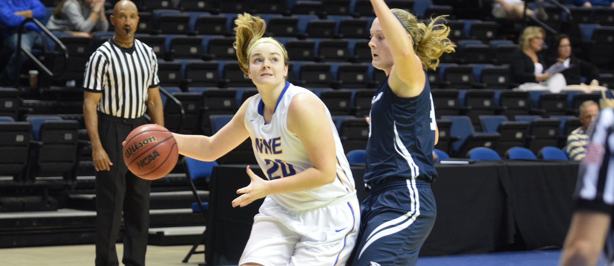 Freshman forward Emily Scurka matched her season-high with 12 points in Western New England's loss to No. 18 Messiah at the Land of Magic Classic on Thursday.