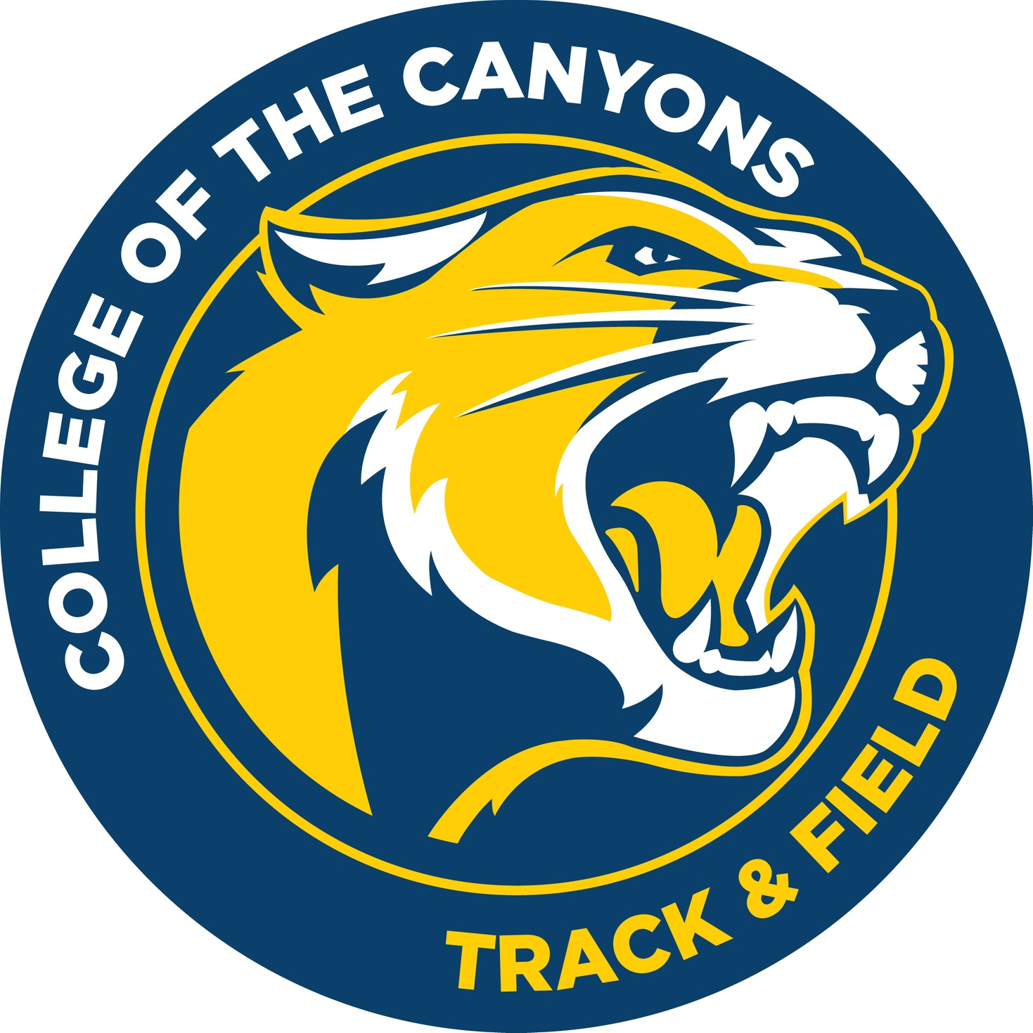 College of the Canyons track & field logo.