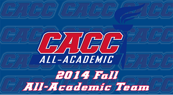 Record 218 Student-Athletes Named to Fall 2014 CACC All-Academic Teams