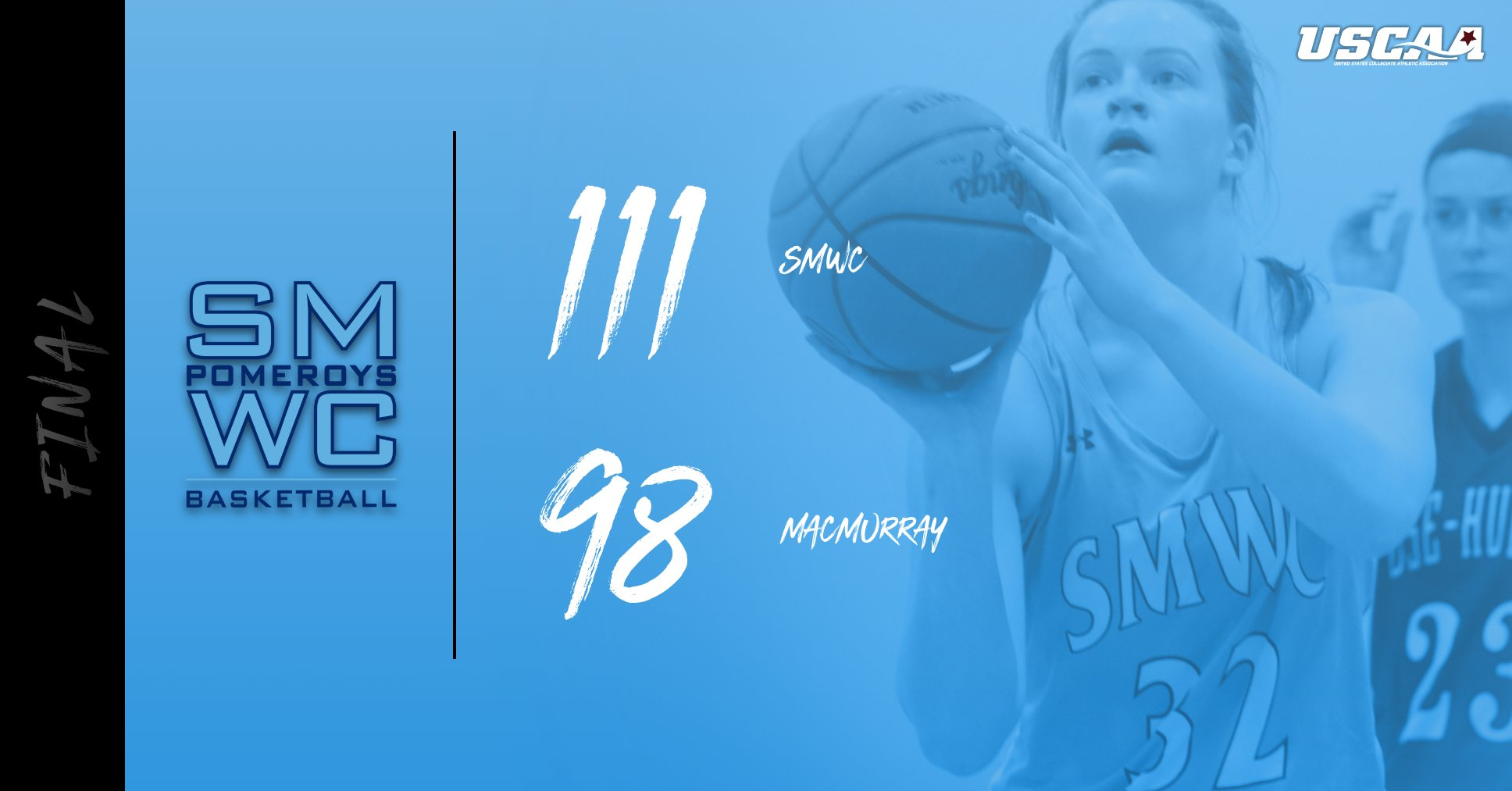 Pomeroys Take Down MacMurray College; Sets School Record for 3-PT Baskets Made (26)