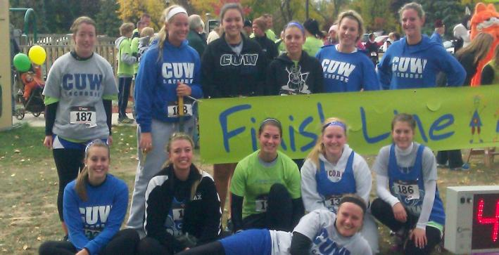 Women's Lacrosse runs in 5K to support Shriners Hospital for Children