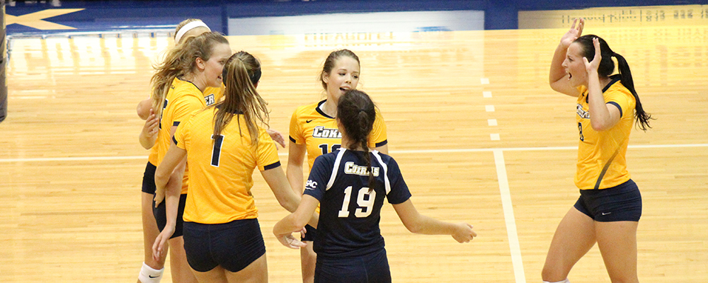 Coker Spikes First Win of Season, Finish 1-1 in Day One of Newberry Volleyball Invitational