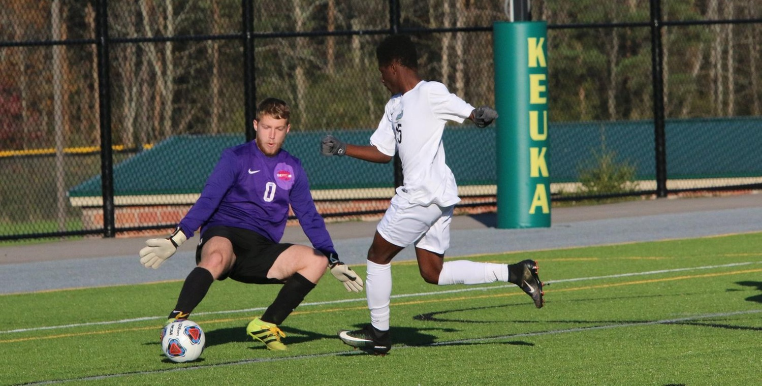 Samba Doukhansy (15) scored the game-winning goal for Keuka College on Tuesday