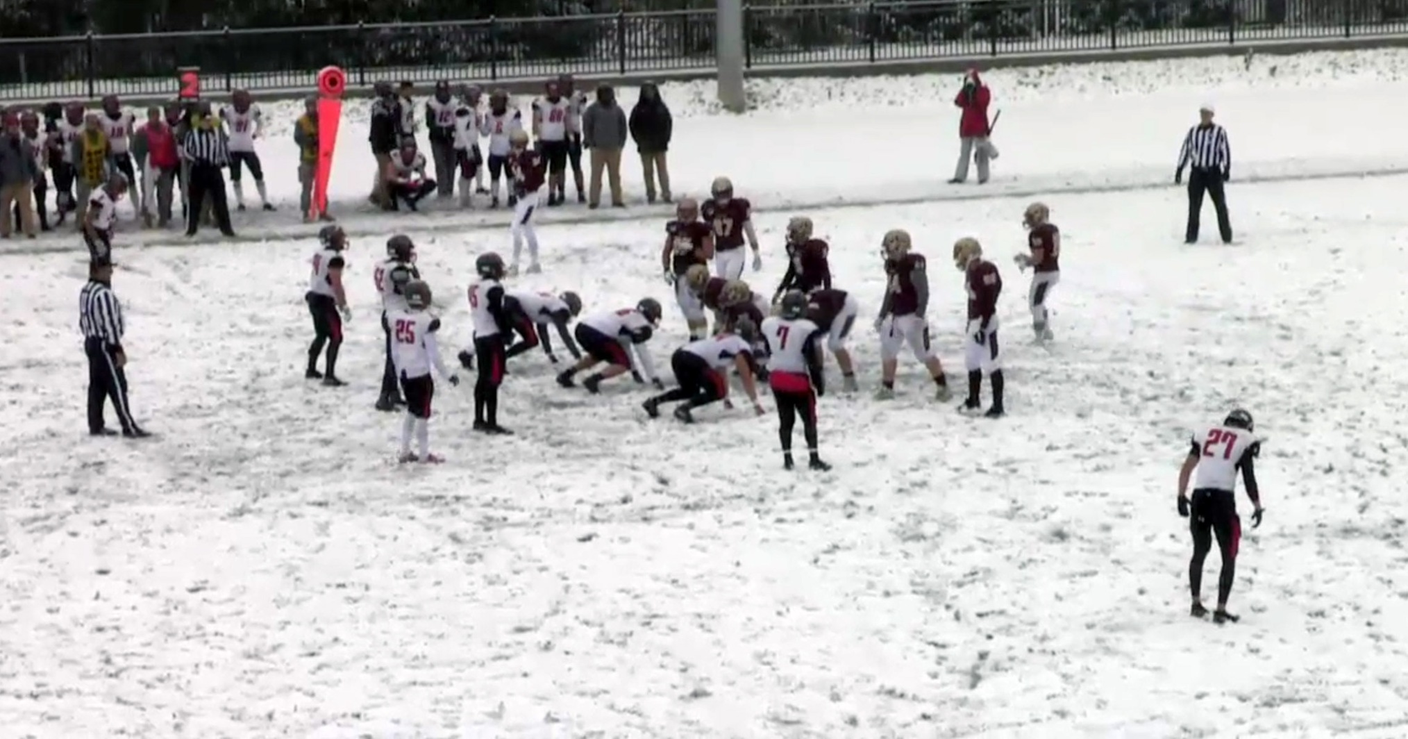 Cardinals Fall in NEWMAC Game at Norwich in Heavy Snow