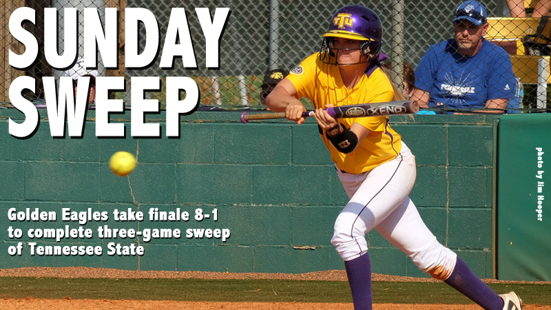 Golden Eagles take down Tigers 8-1 to complete sweep of TSU