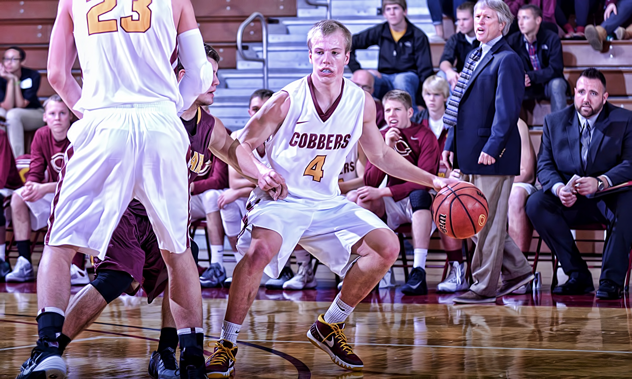 Senior Tom Fraase had a career-high 24 points to lead Concordia in their season-opening win over Minn.-Morris.