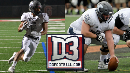 Nick Kwon & Gage Blair of CWRU Named to D3football.com All-South Region Team