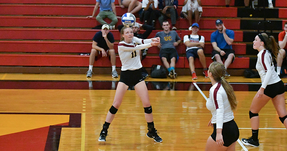Volleyball Outlasts Albright in Five-Set Thriller