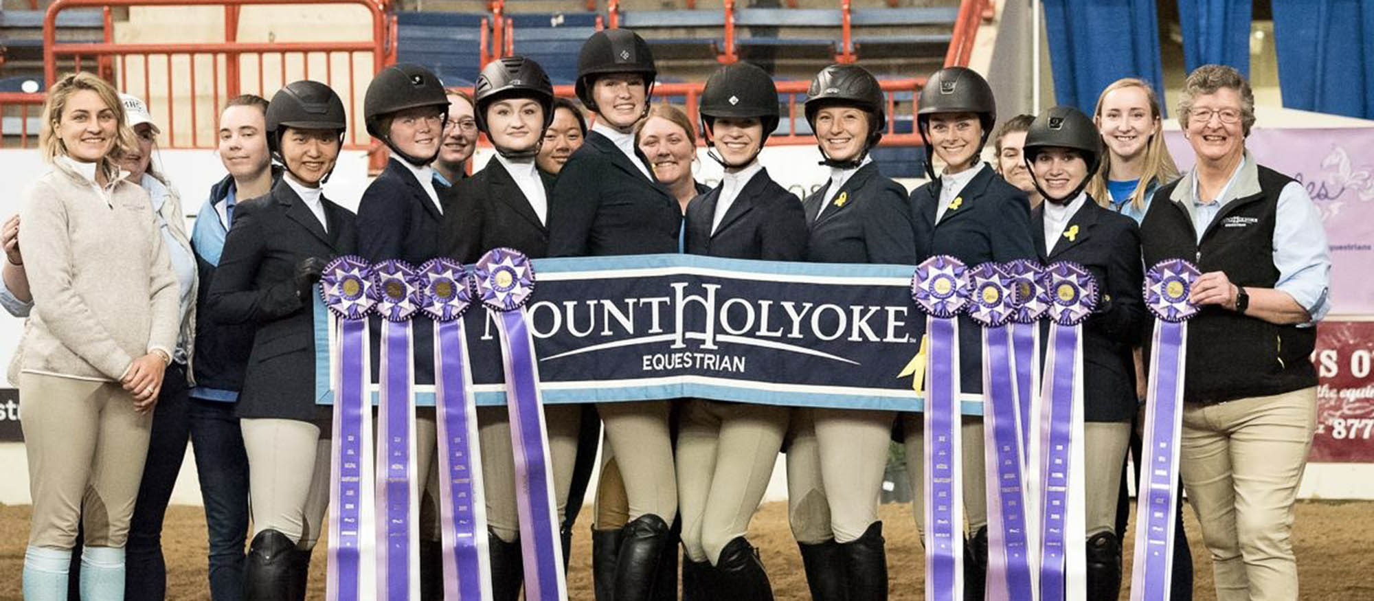 Photo of the Lyons riding team at Nationals 2018. Picture courtesy of Tricia Booker, USHJA