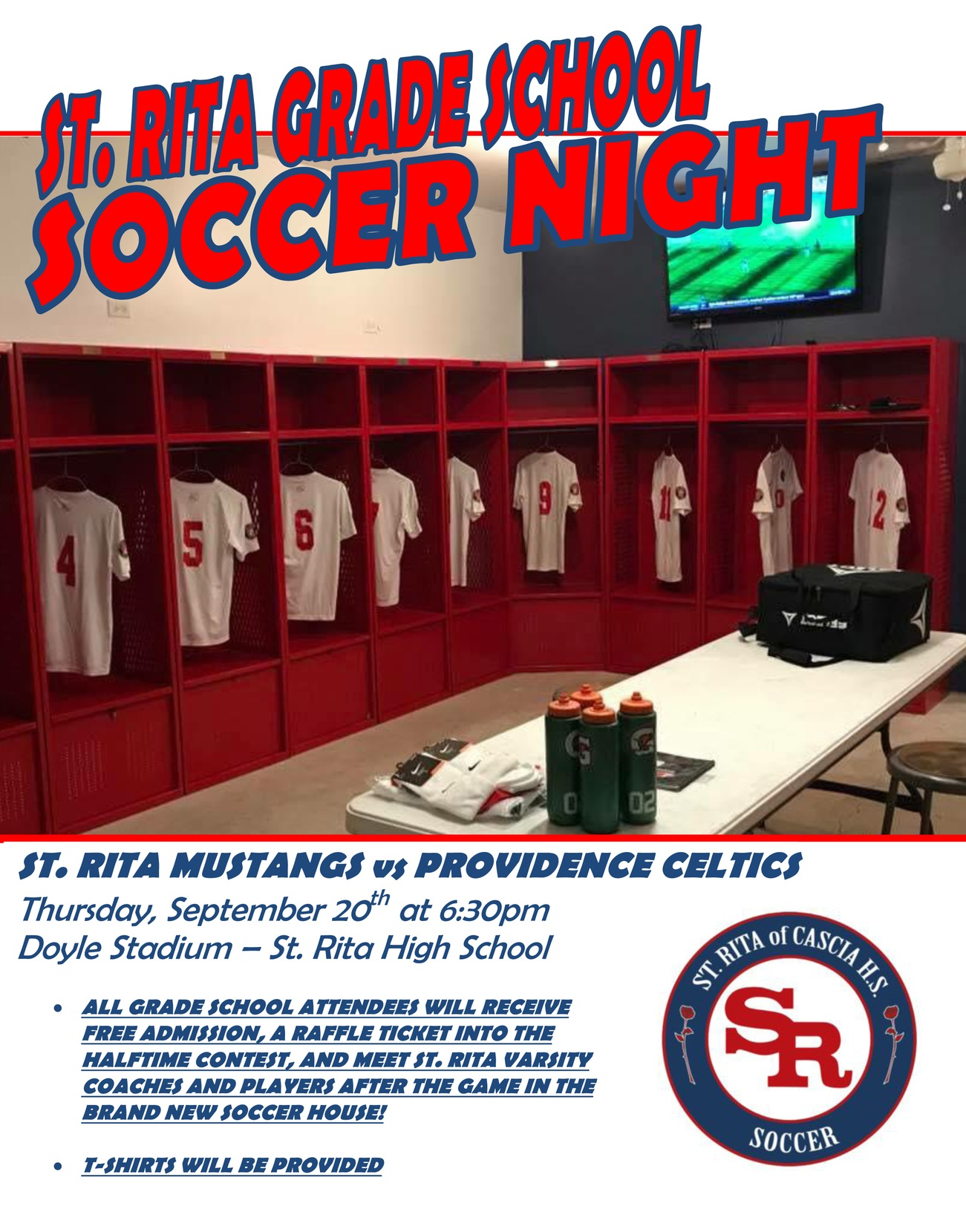 Join Us For Grade School Soccer Night!