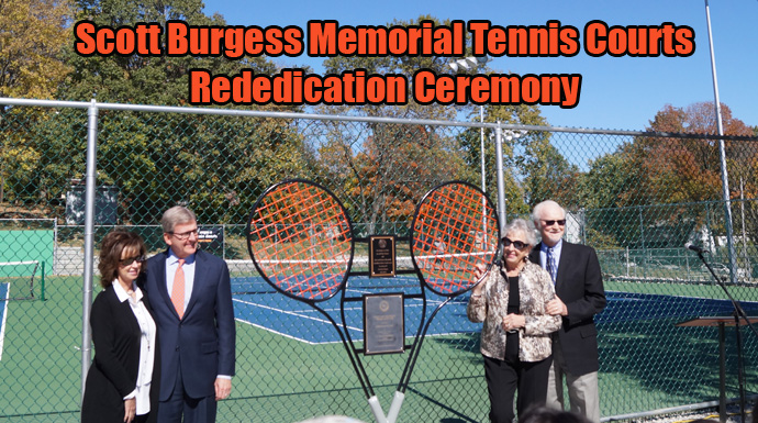 Greenville Rededicates Scott Burgess Memorial Tennis Courts