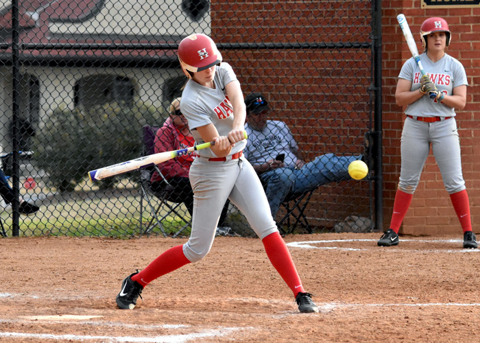 Lindsey Selph drove in the go-ahead run in Game 1 and scored the winning run in Game 2 of Saturday's doubleheader sweep of Averett University. (Photo by Wesley Lyle)