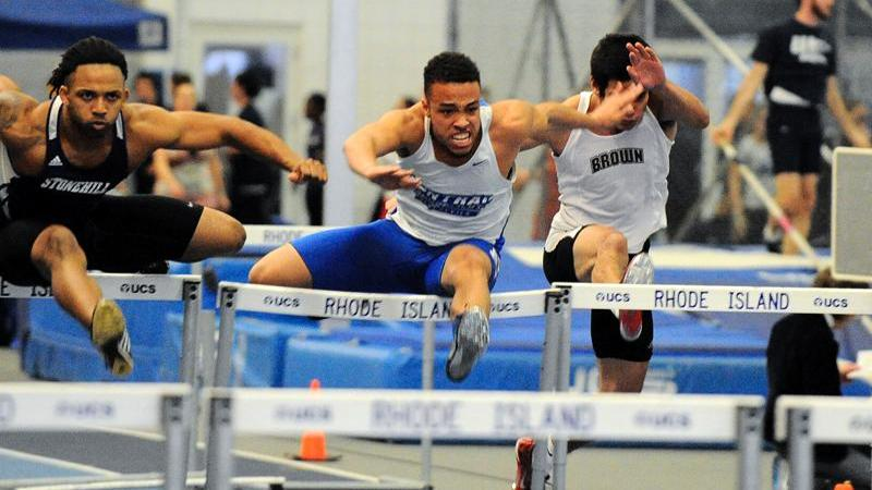 Men's Track Tied for Second After Day One at NECs