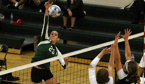 Strong Serving and Early Leads Allow Wilmington Volleyball to Sweep Holy Family