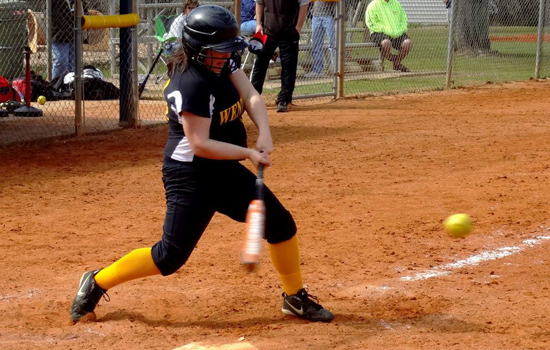 Softball Falls Twice to Curry