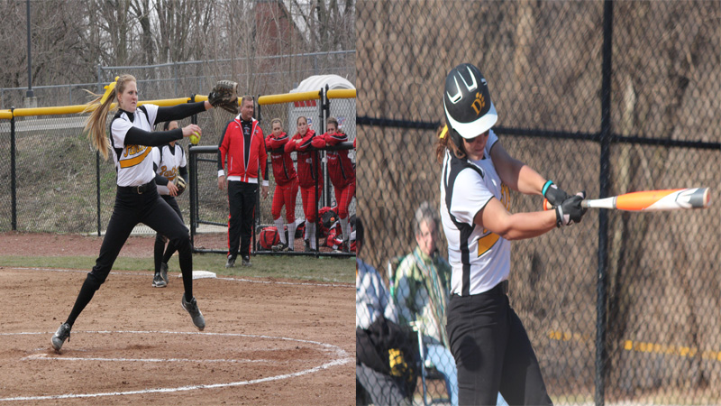 Hinton and Stanzel Named GLIAC Player and Pitcher of the Week