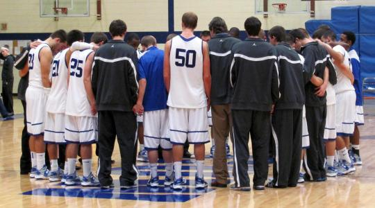"Falcon men ""regroup"" for a strong win Over Mount St. Vincent"