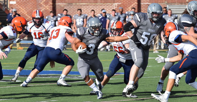 Quick Start off of Blocked Punts Leads Hounds Past Gettysburg, 35-32