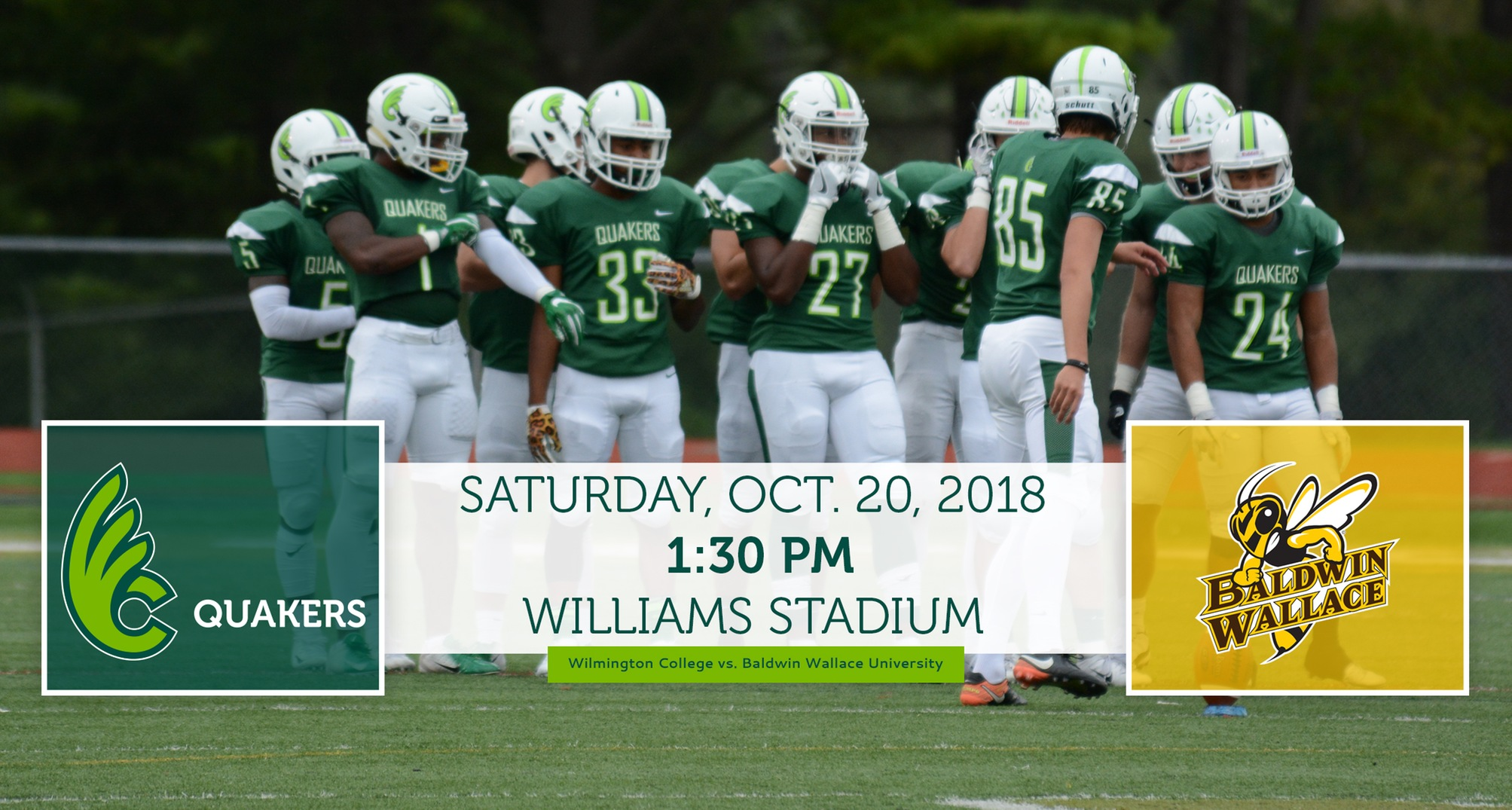 Football Returns Home to Host Baldwin Wallace Saturday
