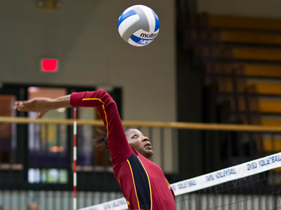 Arielle Goodson had a match-high 27 kills and hit .489 for the Bulldogs in Friday's match at Northern Michigan.  (Photo by Ben Amato)