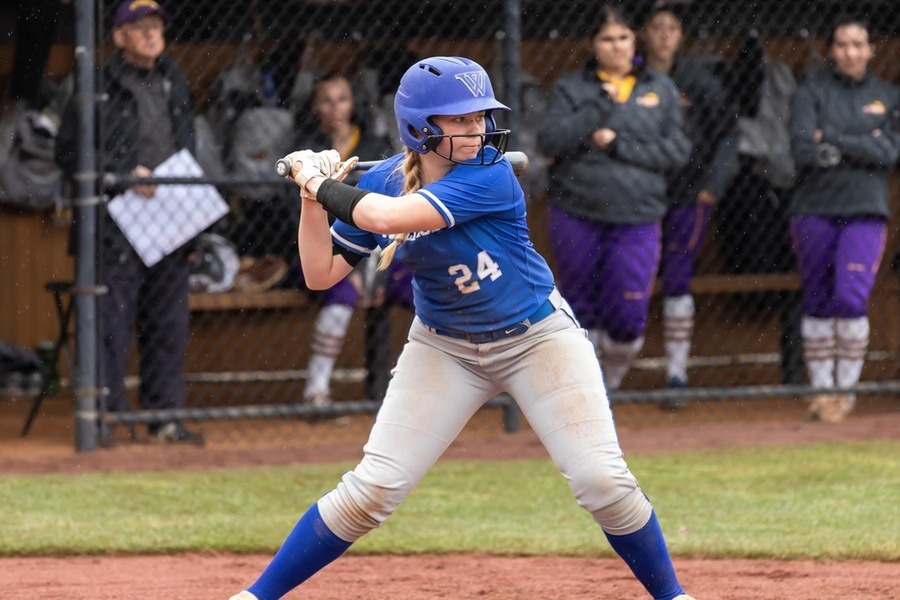 Marisa Hensch hit her second home run of the year in game two (Frank Poulin).