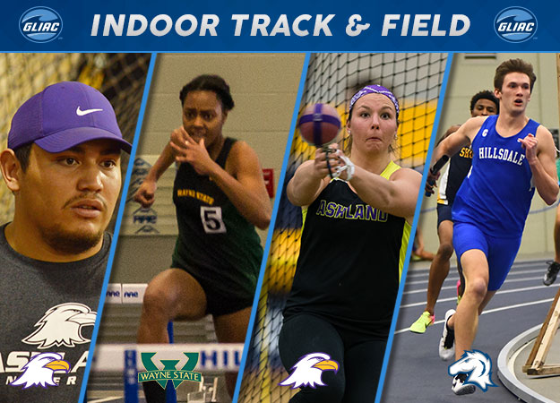 Pair of Ashland Eagles Repeat; Hillsdale & Wayne State Earn Indoor Track & Field Weekly Honors