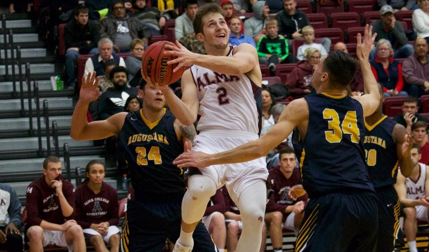Men's Basketball Holds on for Season's First Win