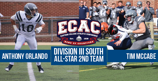 McCabe & Orlando Named to ECAC Division III South All-Star 2nd Team